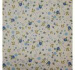 Szalvéta-apró virágos kék