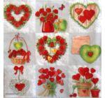 Szalvéta - Szerelem, rózsa