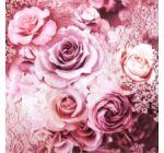 Szalvéta - Rózsa és csipke