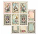 "Scrapbook papír 30x30 cm -  ""Alice"" 10féle/cs"