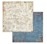 "Scrapbook papír 30x30 cm -  ""Mechanikus fantázia"" 10féle/cs"