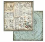 """Scrapbook papír 30x30 cm -  """"Fantasztikus utazások"""" 10féle/cs"""