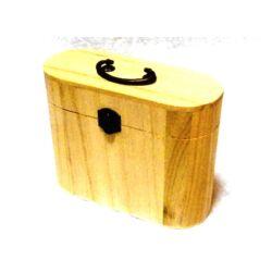 Fa doboz fogantyús