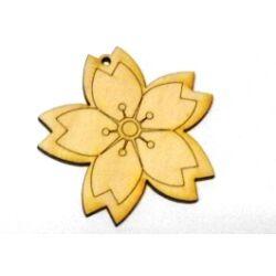 Fafigura - Virág 5 szirmú