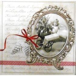Szalvéta - Karácsonyi levél, Vintage