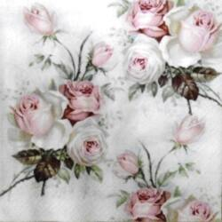 Szalvéta - Rózsa vintage