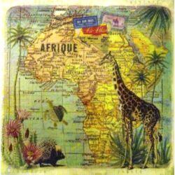UTOLSÓ DARAB - Afrika térkép