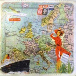 Szalvéta - Európa térkép