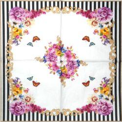 AKCIÓS szalvéta - Pillangós virágos