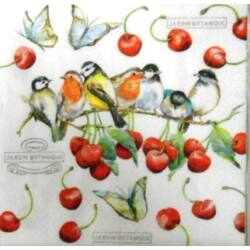 szalvéta - Madarak cseresznyefán