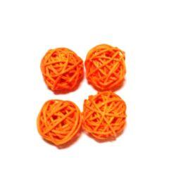 Rattan golyócska 3cm, narancssárga