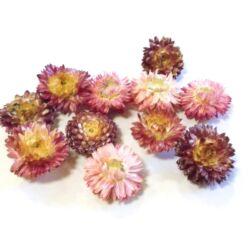 Szalma virág rózsaszín-natúr