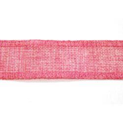 Finom-szövésű juta szalag rózsaszín
