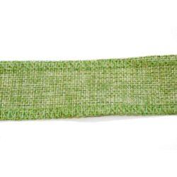 Finom szövésű zsákvászon zöld