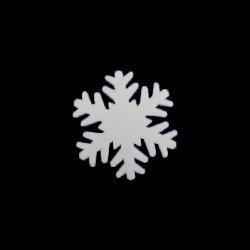 Polisztirol mini hópihe 5*5 cm-es, 16 db/csom - A