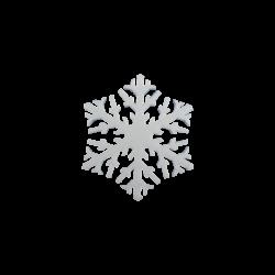 Polisztirol közepes hópihe 10*10 cm-es, 8 db-os - B