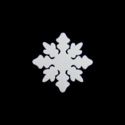 Polisztirol mini hópihe 5*5 cm-es, 16 db/csom