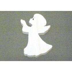 Fafigura fehér angyal