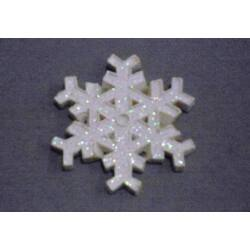 Glitteres hópehely fehér