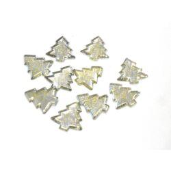 Fenyőfa dekoráció gyöngyház glitteres