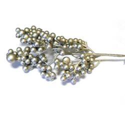 Bogyós ág  betűző ezüst