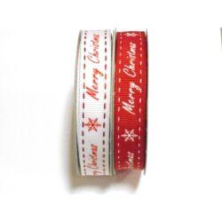 """Merry Christmas"" szalag 1,5cm"