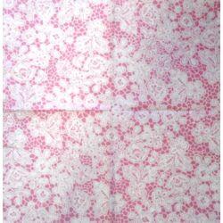 Szalvéta - Csipke minta gyöngyház, rózsaszín