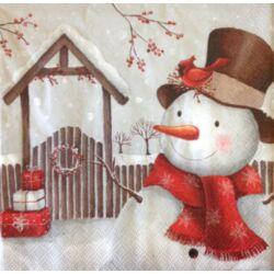Szalvéta - Mosolygós hóember
