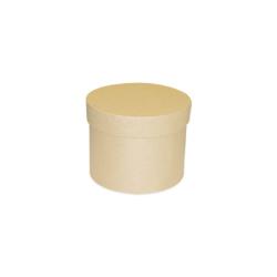 Papírmasé doboz kerek, 10x8 cm