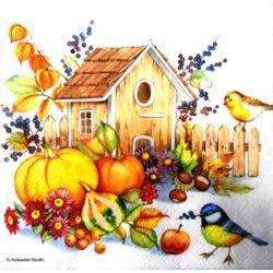 Szalvéta - Őszi madáretető