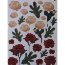 Fólia sablon - Rózsa