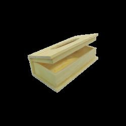 Papírzsepi tartó, fekvő, könyv alakú, peremes
