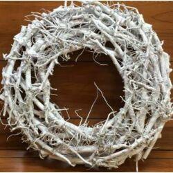 Rőzsekoszorú fehér 50 cm