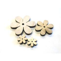 3 D fafigura virág szett natúr
