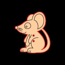 Mini Gomb Fafigura - Egérke