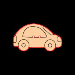 Mini Gomb Fafigura - Autó