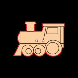 Mini Gomb Fafigura - Mozdony
