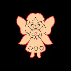 Mini Gomb Fafigura - Tündér