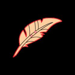 Mini Gomb Fafigura - Madártoll