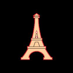 Mini Gomb Fafigura - Eiffel torony