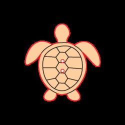 Mini Gomb Fafigura - Teknős