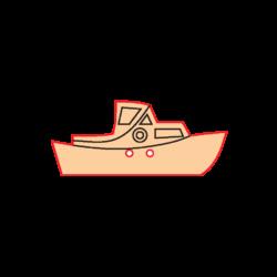 Mini Gomb Fafigura - Hajó
