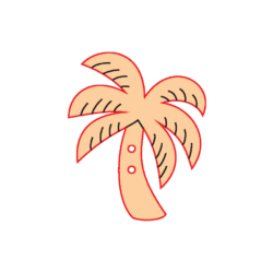 Mini Gomb Fafigura - Pálmafa
