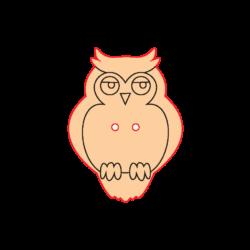 Mini Gomb Fafigura - Bagoly