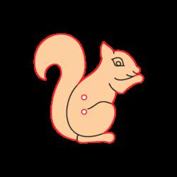Mini Gomb Fafigura - Mókus