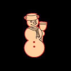 Mini Gomb Fafigura - Hóember