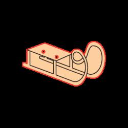 Mini Gomb Fafigura - Szánkó