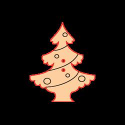 Mini Gomb Fafigura - Karácsonyfa