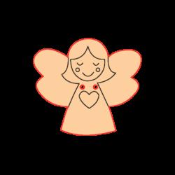 Mini Gomb Fafigura - Angyal