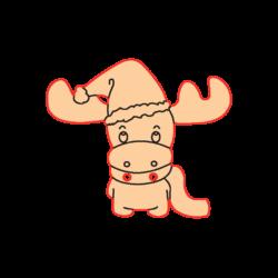 Mini Gomb Fafigura - Rénszarvas